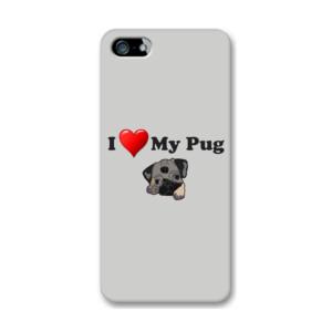 Funda de iPhone (todos los modelos) Diseño I Love My Pug
